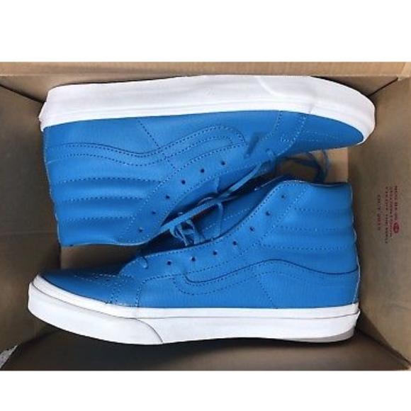 d23416ffc2df8d Vans Sk8 Hi Slim Neon Leather Neon Blue Shoes🌹